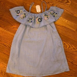 NWT embroidered ruffle dress